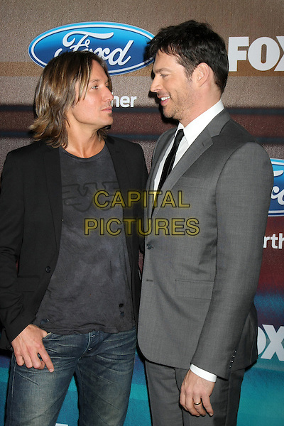 LOS ANGELES, CA - MARCH 11: Keith Urban, Harry Connick Jr. at Fox's 'American Idol XIV' Finalist Party at The District Restaurant on March 11, 2015 in Los Angeles, California. <br /> CAP/MPI/DC/DE<br /> &copy;DE/DC/MPI/Capital Pictures