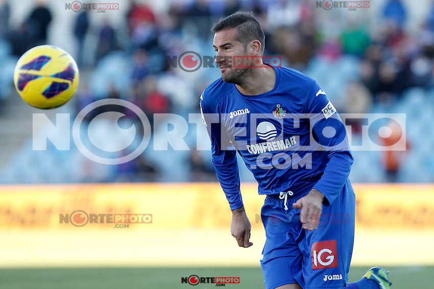 Getafe's Alberto Lopo during La Liga match.December 01,2012. (ALTERPHOTOS/Acero) ©/NortePhoto