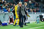 Stockholm 2014-03-04 Fotboll Svenska Cupen Hammarby IF - &Auml;ngelholms FF :  <br /> Hammarbys tr&auml;nare Nanne Bergstrand ser deppig ut <br /> (Foto: Kenta J&ouml;nsson) Nyckelord:  HIF Bajen &Auml;ngelholm depp besviken besvikelse sorg ledsen deppig nedst&auml;md uppgiven sad disappointment disappointed dejected