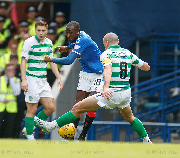 01.09.2019 Rangers v Celtic: Glen Kamara nutmegs Scott Brown