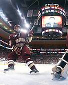 Matt Price (BC - 25) - The Boston College Eagles defeated the University of Vermont Catamounts 4-0 in the Hockey East championship game on Saturday, March 22, 2008, at TD BankNorth Garden in Boston, Massachusetts.