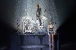 Japanese rock star Yoshiki of band X-Japan presents his Yoshikikimono 2017 Spring Summer Collection at the Amazon Fashion Week Tokyo. Yoshiki played piano and drums as models paraded in his modern kimono designs. The show ended with a rain shower above the drum stand drenching Yoshiki and the models. (Photos by Michael Steinebach / AFLO)