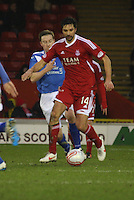 Rory Fallon on the ball in the Aberdeen v Queen of the South William Hill Scottish Cup 5th Round match played at Pittodrie Stadium, Aberdeen on 4.2.12.