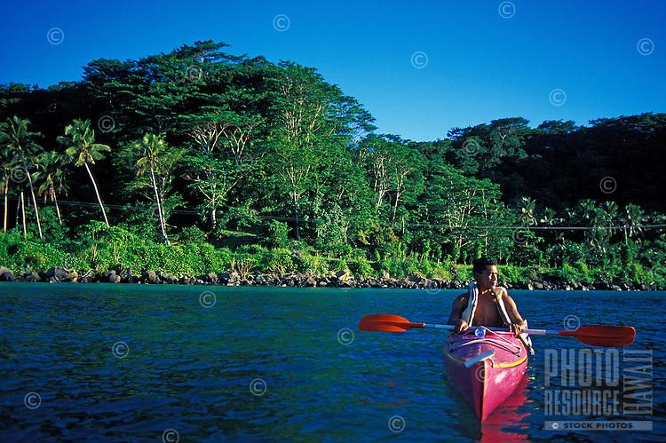 Kayaking at Manase, Savaii, Samoa