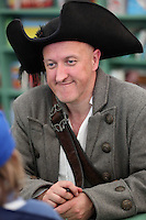 Saturday 24 May 2014, Hay on Wye UK<br /> Pictured: Jonny Duddle in pirate's hat.<br /> Re: The Telegraph Hay Festival, Hay on Wye, Powys, Wales UK.
