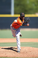 San Francisco Giants pitcher Jesus Reyes (34) during an Instructional League game against the Los Angeles Angels of Anaheim on October 13, 2016 at the Tempe Diablo Stadium Complex in Tempe, Arizona.  (Mike Janes/Four Seam Images)