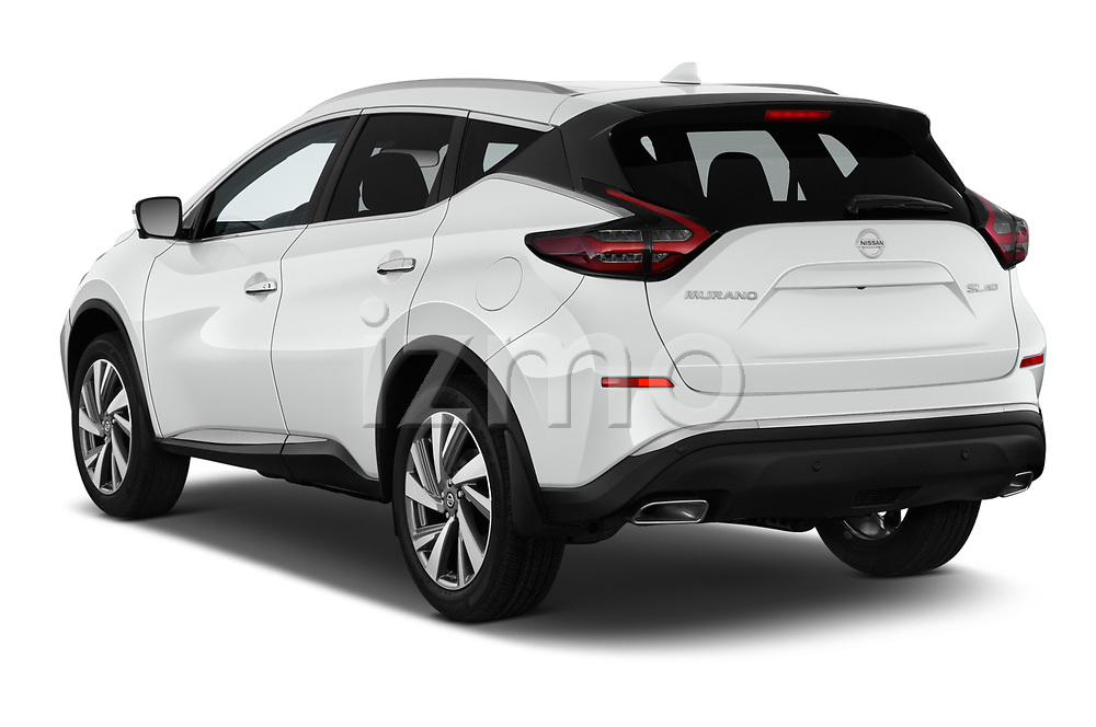 Car pictures of rear three quarter view of 2019 Nissan Murano SL 5 Door SUV Angular Rear