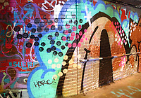 Street Art in the Leake Street Tunnels, under Waterloo station. London on Saturday February 10th 2018<br /> CAP/ROS<br /> &copy;ROS/Capital Pictures