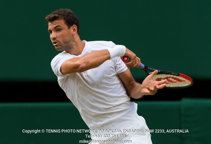 GRIGOR DIMITROV (BUL)<br /> <br /> TENNIS - THE CHAMPIONSHIPS - WIMBLEDON- ALL ENGLAND LAWN TENNIS AND CROQUET CLUB - ATP - WTA -ITF - WIMBLEDON-SW19, LONDON, GREAT  BRITAIN- 2017  <br /> <br /> <br /> &copy; TENNIS PHOTO NETWORK