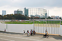 A general view of the land where the National Stadium once stood shows that the cleaning process of the rubble is now complete on November 7, 2015, Tokyo, Japan. The area was cleared to build a new centrepiece stadium for the Tokyo 2020 Olympic Games but due to escalating construction costs the original design was scrapped and organisers are now looking for new plans. This means that the new national stadium will not be ready until January 2020 and will therefore not be used in the 2019 Rugby World Cup in 2019. (Photo by Rodrigo Reyes Marin/AFLO)