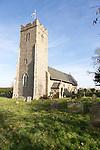 Village parish church and graveyard, church of Saint Lawrence, South Cove, Suffolk, England, UK