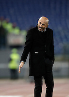 Calcio, Serie A: Roma, Stadio Olimpico, 7 febbraio 2017.<br /> Roma's coach Luciano Spalletti gestures to his players  during the Italian Serie A football match between AS Roma and Fiorentina at Roma's Olympic Stadium, on February 7, 2017.<br /> UPDATE IMAGES PRESS/Isabella Bonotto
