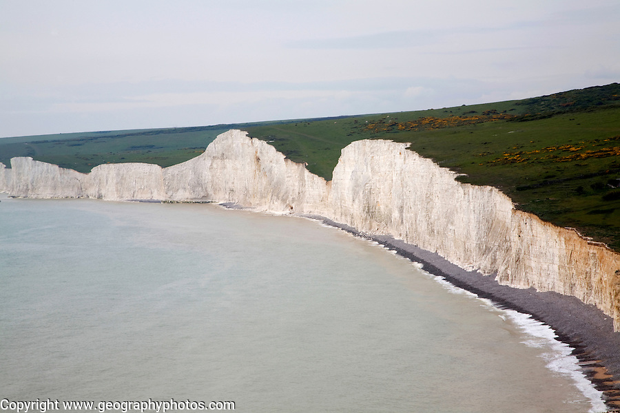 Seven Sisters chalk cliffs, East Sussex, England