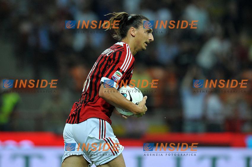 "Zlatan IBRAHIMOVIC (Milan).Milano 9/9/2011 Stadio ""Giuseppe Meazza"".Serie A 2011/2012.Football Calcio Milan Vs Lazio.Foto Insidefoto Alessandro Sabattini."