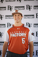 Turner Symonds (15) of Fort Worth Country Day School in Fort Worth, Texas during the Baseball Factory All-America Pre-Season Tournament, powered by Under Armour, on January 12, 2018 at Sloan Park Complex in Mesa, Arizona.  (Zachary Lucy/Four Seam Images)