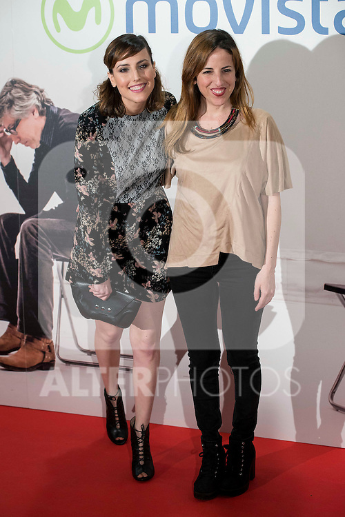 "Sisters Natalia and Celia de Molina attends to the premire of the film ""Que fue de Jorge Sanz"" at Cinesa Proyecciones in Madrid. February 10, 2016."