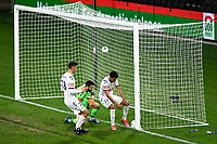 30th July 2020; Bankwest Stadium, Parramatta, New South Wales, Australia; A League Football, Adelaide United versus Perth Glory; Juande of Perth Glory retrieves the ball from the goal after he scores a penalty in the dying minutes of the game to make it 5-3 to Adelaide