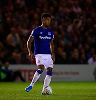 Everton's Mason Holgate<br /> <br /> Photographer Andrew Vaughan/CameraSport<br /> <br /> The Carabao Cup Second Round - Lincoln City v Everton - Wednesday 28th August 2019 - Sincil Bank - Lincoln<br />  <br /> World Copyright © 2019 CameraSport. All rights reserved. 43 Linden Ave. Countesthorpe. Leicester. England. LE8 5PG - Tel: +44 (0) 116 277 4147 - admin@camerasport.com - www.camerasport.com