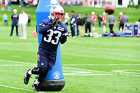 June 7, 2017: New England Patriots defensive back Will Likely (33) catches the ball at the New England Patriots mini camp held on the practice field at Gillette Stadium, in Foxborough, Massachusetts. Eric Canha/CSM