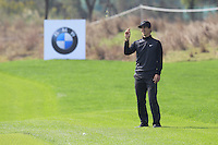 Thorbjorn Olesen (DEN) waits to play his 2nd shot on the 9th hole during Sunday's Final Round of the 2014 BMW Masters held at Lake Malaren, Shanghai, China. 2nd November 2014.<br /> Picture: Eoin Clarke www.golffile.ie