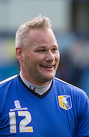 Goalkeeper Brian Jensen of Mansfield Town during the Sky Bet League 2 match between Wycombe Wanderers and Mansfield Town at Adams Park, High Wycombe, England on 25 March 2016. Photo by Andy Rowland.