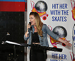 """Madeline Fansler attends the Special Musical Presentation for """"Hit Her WithThe Skates"""" at the Bowlmor Times Square on October 16, 2018 in New York City."""