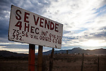 EL PORVENIR, BAJA CALIFORNIA - NOVEMBER 27, 2013:  Land is for sale in the popular and growing wine region of Valle de Guadalupe. Residents and wineries in Mexico's wine country are protesting the mayor's relaxing of zoning regulations they say will lead to a drastic change in the culture of  the popular tourist destination.  CREDIT: Max Whittaker for The New York Times