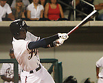 Aces Pedro Ciriaco swings.  Photo by Tom Smedes.