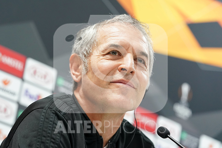 FC Basel's coach Marcel Koller in press conference before training session. October 23,2019.(ALTERPHOTOS/Acero)