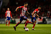9th January 2018, Wanda Metropolitano, Madrid, Spain; Copa del Rey football, round of 16, second leg, Atletico Madrid versus Lleida; Victor Machin VITOLO (Atletico de Madrid) breaks forward with Diego Costa (Atletico de Madrid)