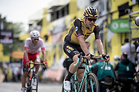 Wout van Aert (BEL/Jumbo - Visma) crossing the finish line in Brussels<br /> <br /> Stage 1: Brussels to Brussels (BEL/192km) 106th Tour de France 2019 (2.UWT)<br /> <br /> ©kramon