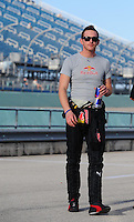 Nov. 14, 2008; Homestead, FL, USA; NASCAR Sprint Cup Series driver Scott Speed during qualifying for the Ford 400 at Homestead Miami Speedway. Mandatory Credit: Mark J. Rebilas-