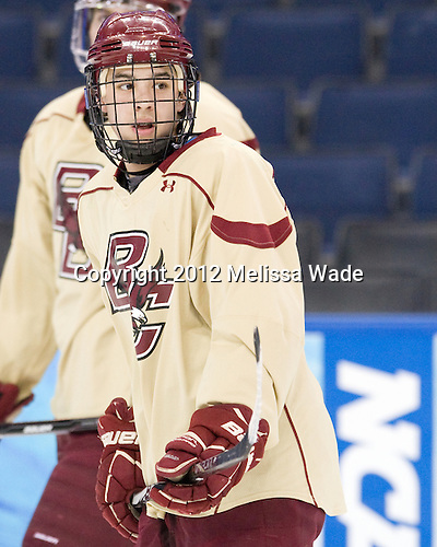 Johnny Gaudreau (BC - 13) - The Boston College Eagles practiced on Wednesday, April 4, 2012, during the 2012 Frozen Four at the Tampa Bay Times Forum in Tampa, Florida.