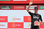 Christopher Froome (GBR) Team Sky wins Stage 9 of the 2017 La Vuelta, running 174km from Orihuela Ciudad del Poeta Miguel Hernandez to Cumbre del Sol, El Poble Nou de Benitatxell, Spain. 27th August 2017.<br /> Picture: Unipublic/&copy;photogomezsport | Cyclefile<br /> <br /> <br /> All photos usage must carry mandatory copyright credit (&copy; Cyclefile | Unipublic/&copy;photogomezsport)