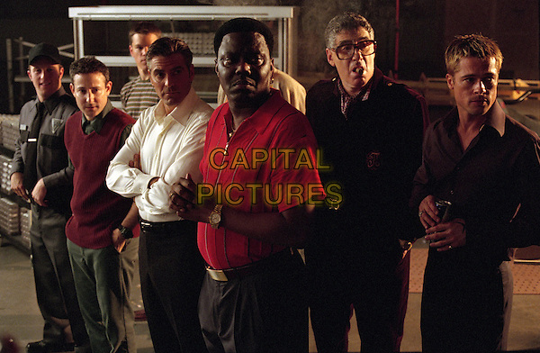 George Clooney, Bernie Mac, Carl Reiner, Brad Pitt<br /> in Ocean's Eleven (2001) <br /> *Filmstill - Editorial Use Only*<br /> CAP/NFS<br /> Image supplied by Capital Pictures