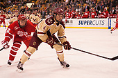 Tommy Kelley (BU - 22), Michael Kim (BC - 4) - The Boston University Terriers defeated the Boston College Eagles 3-1 in their opening Beanpot game on Monday, February 6, 2017, at TD Garden in Boston, Massachusetts.