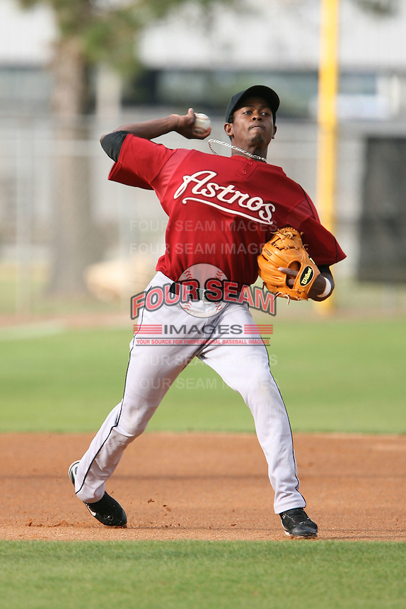 March 16th 2008:  Jhon Florentino of the Houston Astros minor league system during Spring Training at Osceola County Complex in Kissimmee, FL.  Photo by:  Mike Janes/Four Seam Images