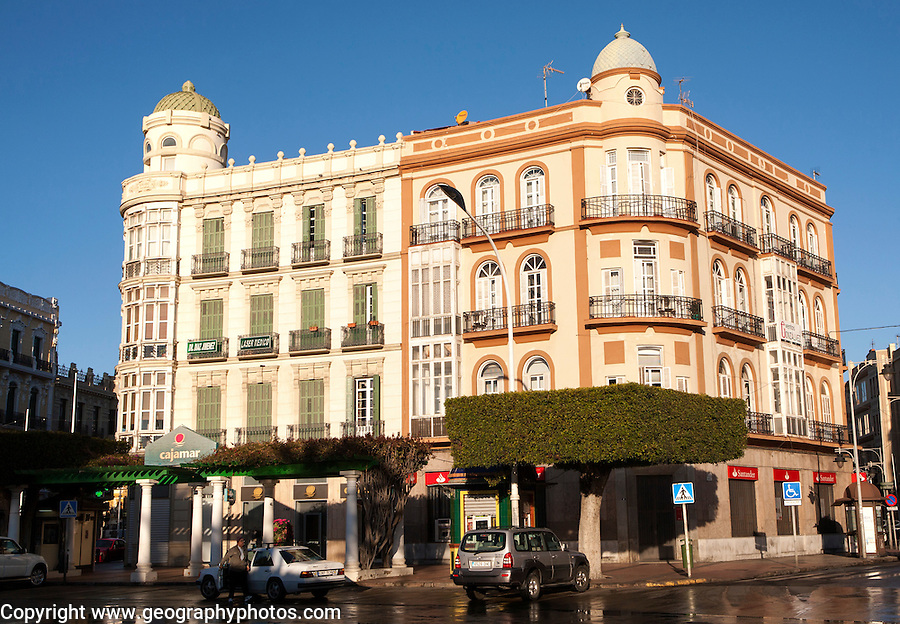Melilla autonomous city state Spanish territory in north Africa, Spain -1900s modernist architecture