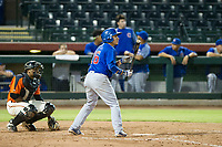 AZL Cubs second baseman Carlos Sepulveda (16) at bat during Game Three of the Arizona League Championship Series against the AZL Giants on September 7, 2017 at Scottsdale Stadium in Scottsdale, Arizona. AZL Cubs defeated the AZL Giants 13-3 to win the series two games to one. (Zachary Lucy/Four Seam Images)