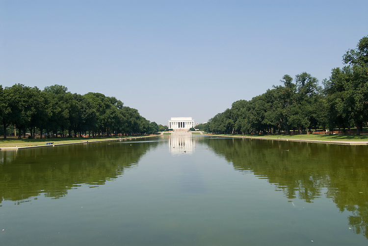 Washington DC; USA: The Reflecting Pool on the National Mall, with the Lincoln Memorial in the background.Photo copyright Lee Foster Photo # 5-washdc83268.