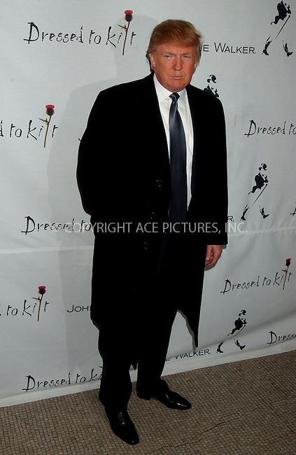 WWW.ACEPIXS.COM . . . . .....April 2, 2007. New York City.....Donald Trump attends the 'Dressed to Kilt 2007' fashion show at Capitale...  ....Please byline: Kristin Callahan - ACEPIXS.COM..... *** ***..Ace Pictures, Inc:  ..Philip Vaughan (646) 769 0430..e-mail: info@acepixs.com..web: http://www.acepixs.com