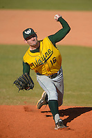 Wayne State Warriors pitcher Alex Pierse #16 during a game against Slippery Rock at Chain of Lakes Stadium on March 15, 2013 in Winter Haven, Florida.  Illinois State defeated Long Island 6-4.  (Mike Janes/Four Seam Images)