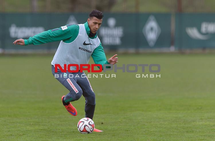 01.04.2015, Trainingsgelaende, Bremen, GER, 1.FBL, Training Werder Bremen, im Bild Davie Selke (Bremen #27)<br /> <br /> Foto &copy; nordphoto / Frisch