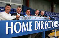 From L to R - Will Wordsworth (Commercial Director), Gerry Murphy (Assistant Manager), Mick Woodward (Chairman), Frank Gray (Manager) and Steve Snelling (Physio) - Grays Athletic Football Club - 25/05/06 - MANDATORY CREDIT: Gavin Ellis