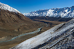 River flowing in mountain valley, Sarychat-Ertash Strict Nature Reserve, Tien Shan Mountains, eastern Kyrgyzstan
