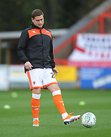 Blackpool's Steve Davies during the pre-match warm-up <br /> <br /> Photographer Kevin Barnes/CameraSport<br /> <br /> Emirates FA Cup First Round - Exeter City v Blackpool - Saturday 10th November 2018 - St James Park - Exeter<br />  <br /> World Copyright &copy; 2018 CameraSport. All rights reserved. 43 Linden Ave. Countesthorpe. Leicester. England. LE8 5PG - Tel: +44 (0) 116 277 4147 - admin@camerasport.com - www.camerasport.com