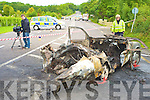The scene of the car accident which claimed the lives of two young men in Killarney last Thursday morning.......
