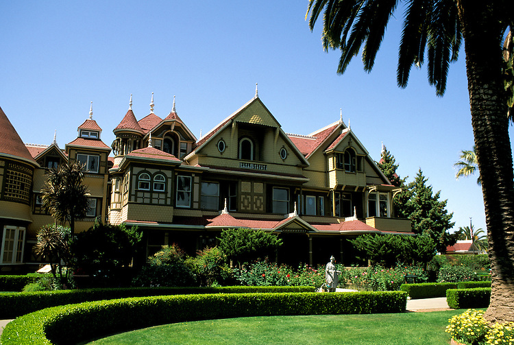 California: San Jose. Winchester Mystery House..Photo copyright Lee Foster, 510/549-2202, lee@fostertravel.com, www.fostertravel.com..Photo #: cajos3101.