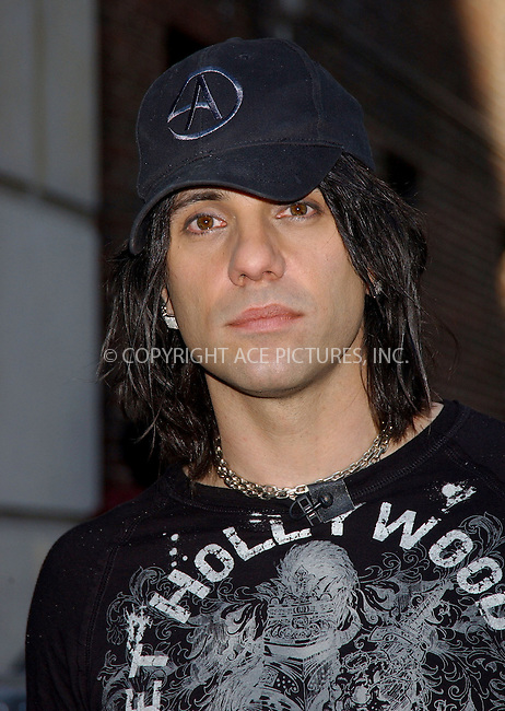 WWW.ACEPIXS.COM . . . . . ....NEW YORK, MAY 22, 2006....Criss Angel makes a guest appearance at the Late Show with David Letterman.....Please byline: KRISTIN CALLAHAN - ACEPIXS.COM.. . . . . . ..Ace Pictures, Inc:  ..(212) 243-8787 or (646) 679 0430..e-mail: picturedesk@acepixs.com..web: http://www.acepixs.com