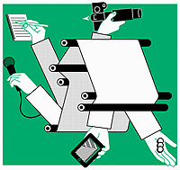 Printed newspapers, mobile technology and the media